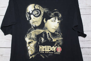 HellBoy 2 Comic Movie Vintage Film T-shirt