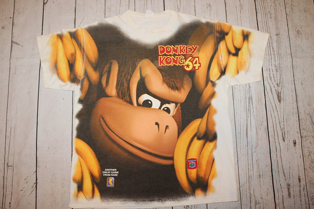 Nintendo Donkey Kong 64 Vintage All Over Print T-Shirt