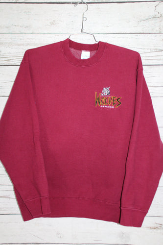 Chicago Wolves Vintage Embroidered Hockey Crewneck Sweatshirt