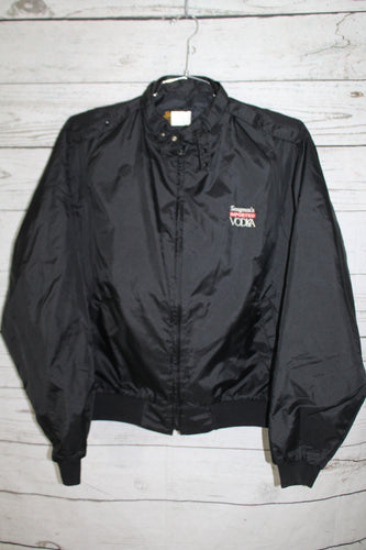 Seagrams Imported Vodka Vintage Swingster Black Members Only Style Jacket