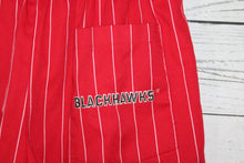 Chicago Blackhawks Vintage 1990s Red Pinstripe Starter Brand Shorts