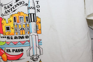 Texas State Cities Dallas Houston San Antonio Vintage Colorful T-Shirt