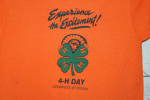 University of Illinois 4H Day Chief Illiniwek Experience Excitement Vintage T-Shirt