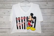 Disney Mickey Mouse Classic Vintage Disney Crop Top Belly Short T-Shirt