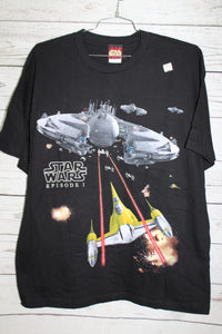 Star Wars Episode 1 One Anakin Space Battle Scene Vintage DEADSTOCK T-shirt