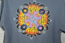 Peace Frogs Lotus Flower Sun Moon Planet Stars Vintage Double Sided T-shirt