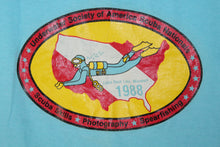 Scuba Nationals 1988 Table Rock Missouri Midwest Diving Council Vintage T-Shirt
