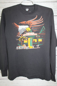 Rocky's Green Gables Biker Bar Missouri Harley Davidson Style Shirt Vintage 1987 Long Sleeve T-shirt