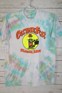 German Fest Monona Iowa Vintage Tie Dye Beer T-shirt