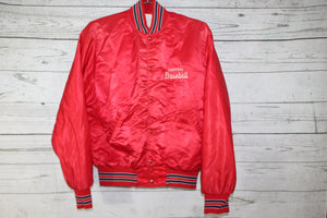 Central Rebels High School Baseball Park City Missouri Vintage Satin Bomber Jacket