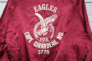 Fraternal Order of Eagles Cape Girardeau Missouri Vintage Satin Bomber Jacket