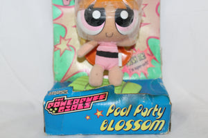 Power Puff Girls Pool Party Blossom Vintage Cartoon Network Plush Doll New in Box