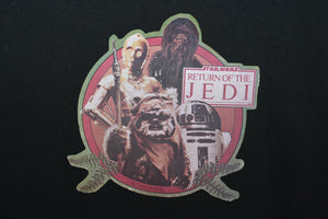 Star Wars Return To The Jedi Wicket C3PO Chewbacca R2D2 Vintage Iron On Movie Promo T-shirt