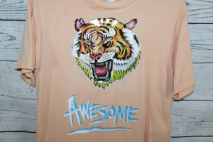 Awesome Tiger Vintage Iron On Movie Promo T-shirt