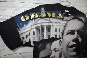 President Barack Obama and Family with Martin Luther King Vintage Double Sided T-shirt