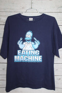 The Simpsons Homer Simpson Eating Machine Vintage Cartoon T-shirt