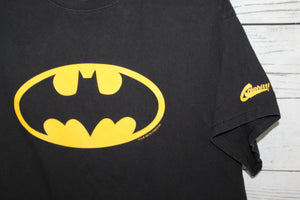 Batman Logo by Craphitti Vintage 1990s DC Comics Movie Promo T-shirt