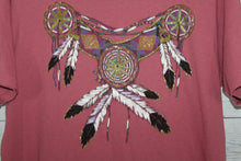 Diamond Dust Glitter Feather Chest Plate 1984 Native American Vintage T-shirt