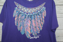 Las Vegas Feather Chest Plate 1992 Native American Vintage T-shirt