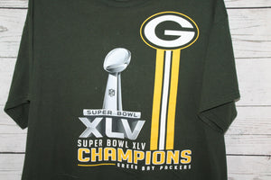 Green Bay Packers 2011 Super Bowl Champions Retro Double Sided T-shirt