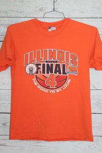 Illinois Fighting Illini 2005 NCAA Final Four Basketball Game Vintage Champion T-shirt