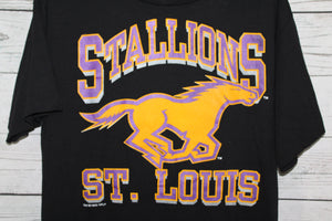 St Louis Stallions Football Team Vintage NFL T-shirt