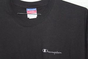 Champion Brand Vintage Embroidered Script Logo T-shirt