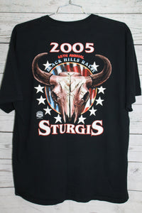 Sturgis South Dakota 2005 65th Motorcycle Bike Rally Vintage Biker T-shirt