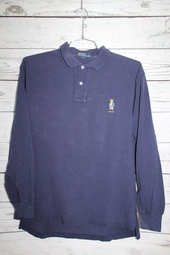 Ralph Lauren Polo Bear Vintage Long Sleeve Polo Shirt