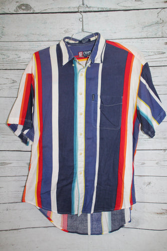 Ralph Lauren Chaps Vintage Striped Color Block Collard Shirt