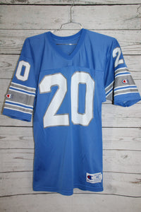 Detroit Lions Barry Sanders Vintage Champion Football Jersey