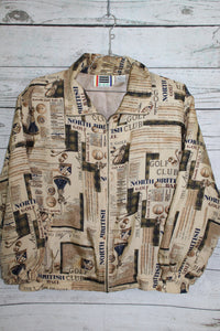 Roussa Apparel Brand North Britain Golf Club All Over Print Vintage Unisex Silk Bomber Jacket