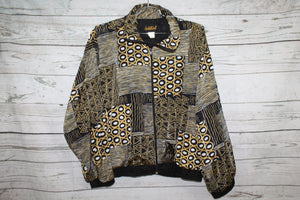 Sold Out Brand Abstract Art Style Vintage Unisex Silk Bomber Jacket