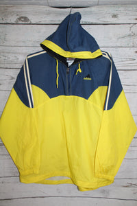 Adidas Vintage Hooded Pullover Windbreaker Jacket