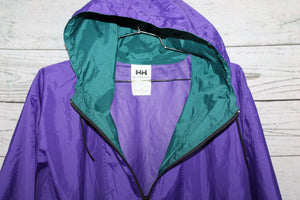 Helly Hansen Vintage 3/4 zip Hooded Pullover Windbreaker Jacket