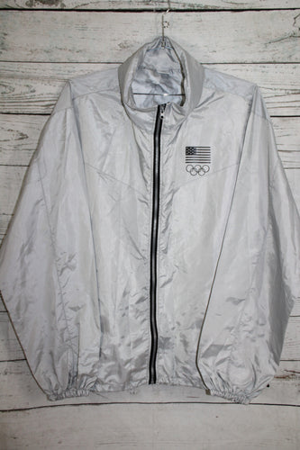 USA Olympics Vintage Hooded Windbreaker Jacket