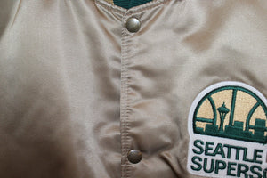 Seattle Supersonics 1 Of 1 Vintage Gold Starter Jacket