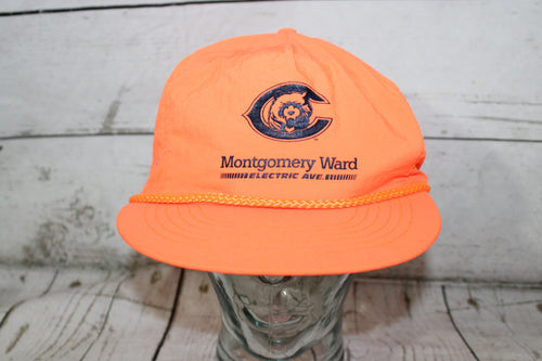 Chicago Bears Electric Ave Montgomery Ward Promo Vintage Neon Snapback Hat