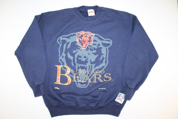 Chicago Bears Vintage Retro Nutmeg 1994 Crewneck Sweatshirt Sweater