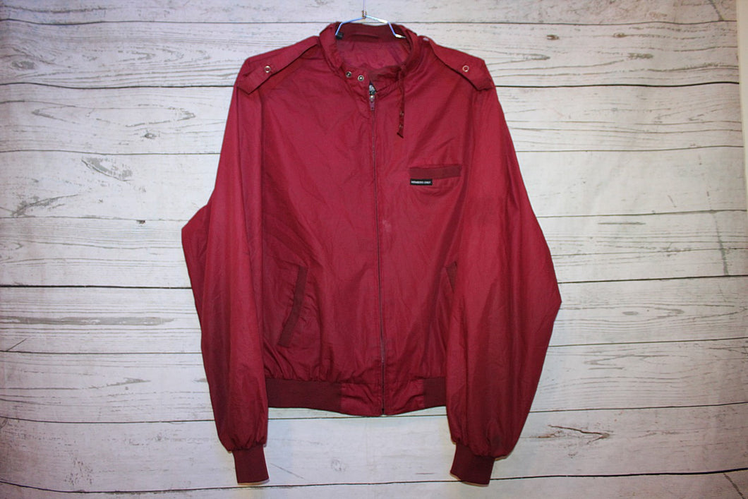 Members Only Vintage Maroon Cafe Racer Jacket