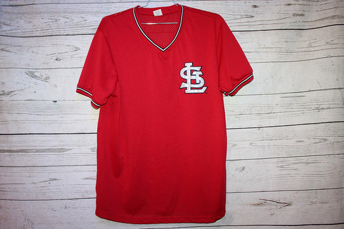 St Louis Vintage Sewn Pullover Baseball Jersey