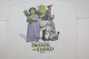 Shrek The Third Vintage DreamWorks Movie Promo T-shirt