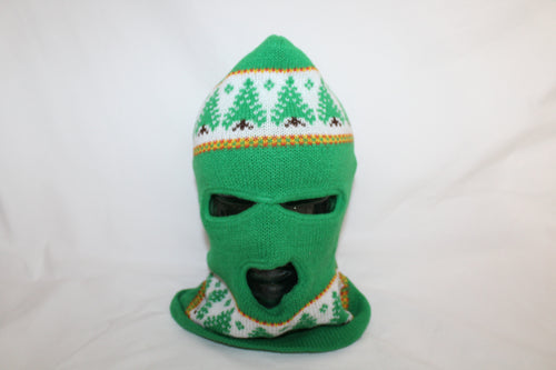 Christmas Tree Vintage Winter Knit Ski Mask Hat