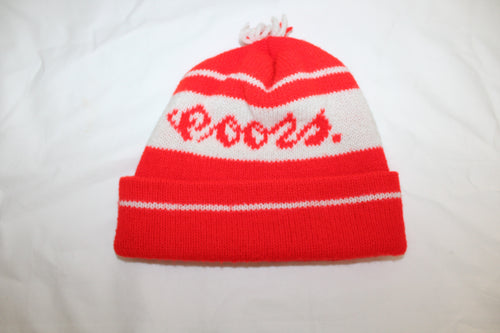 Coors Beer Vintage Knit Hat With Pom Pom
