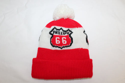 Phillips 66 Gas Vintage Knit Hat With Pom Pom