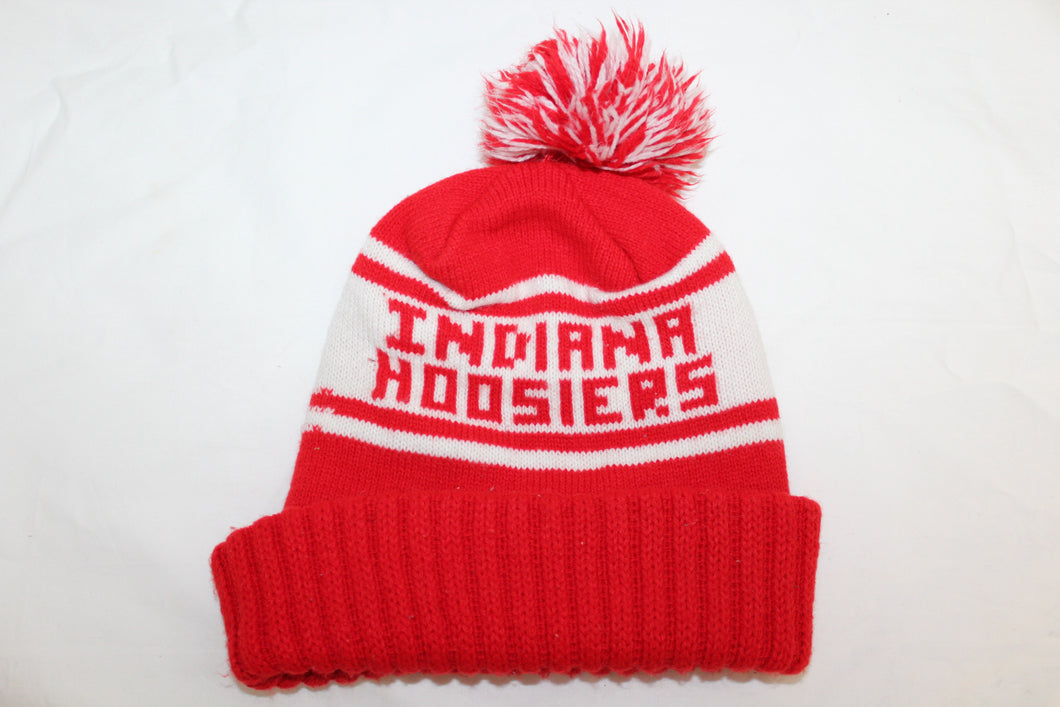 Indiana Hoosiers Vintage Knit Hat With Pom Pom