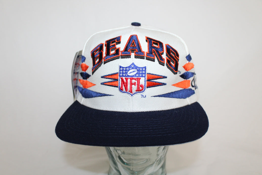 Chicago Bears Vintage Logo Athletic Diamonds Snapback Hat