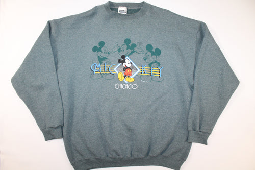 Mickey Mouse Chicago Vintage Disney Crewneck Sweatshirt Sweater