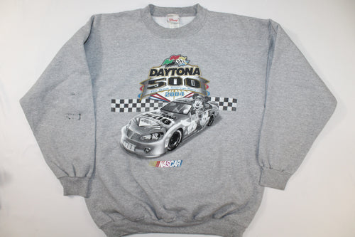 Mickey Mouse 2004 Daytona 500 Vintage Disney Crewneck Sweatshirt Sweater