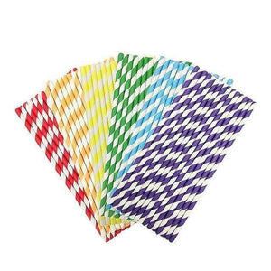 Paille en papier multi-couleur lot de 25 | Novela-Global.com